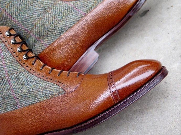 PJ Ligne Prestige - Prince de Galles - Country calf / Harris Tweed