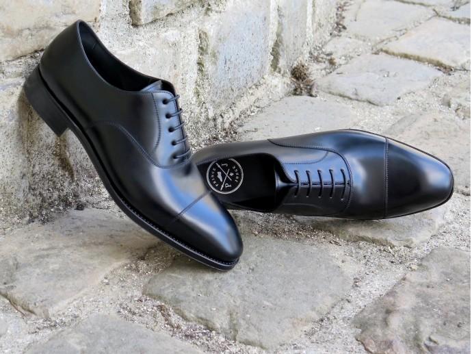 PJ Ligne Prestige - Goncourt - Box-calf noir - Tannerie d'Annonay