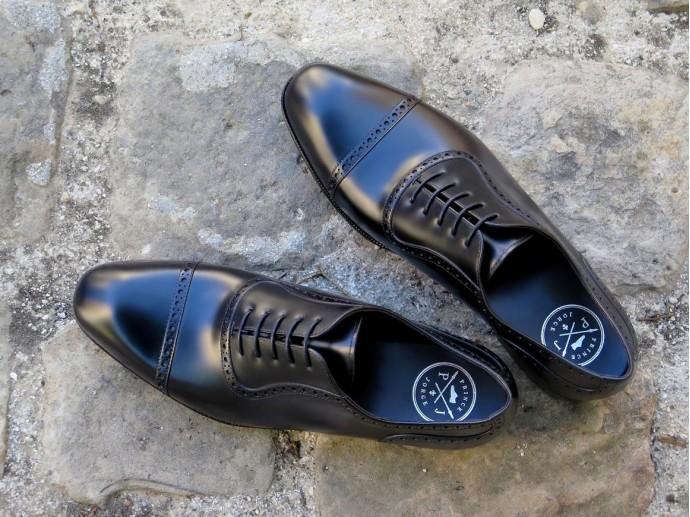 PJ Ligne Prestige - Wagram - Box-calf noir - Tannerie d'Annonay