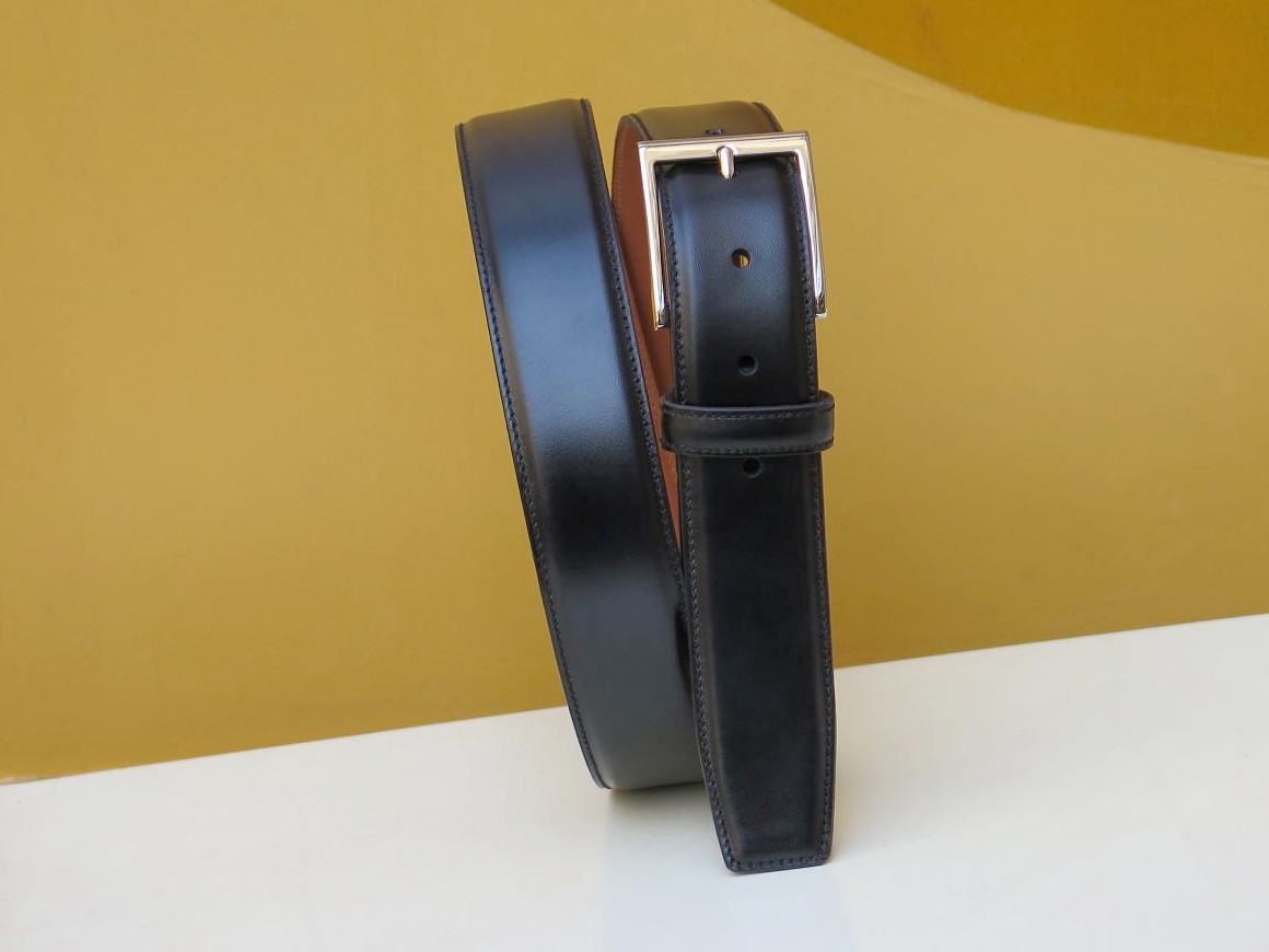 PJ Ligne Prestige - Ceinture - Box-calf noir - Annonay